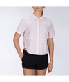 HURLEY Wilson Shipwrecks S/S Button Up Shirt Women's Pink Gaze