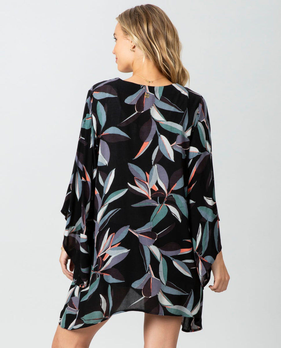 RIP CURL Palm Bay Kimono Women's Black WOMENS APPAREL - Women's Cover Ups and Kimonos Rip Curl S