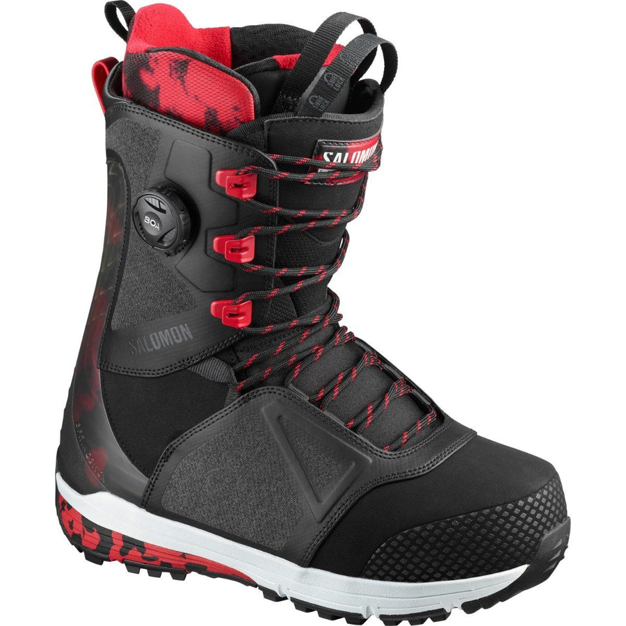 SALOMON LO FI Snowboard Boots Black/Tango Red 2020