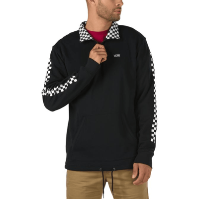 VANS Versa Quarter Zip Black/Checkerboard MENS APPAREL - Men's Sweaters and Sweatshirts Vans