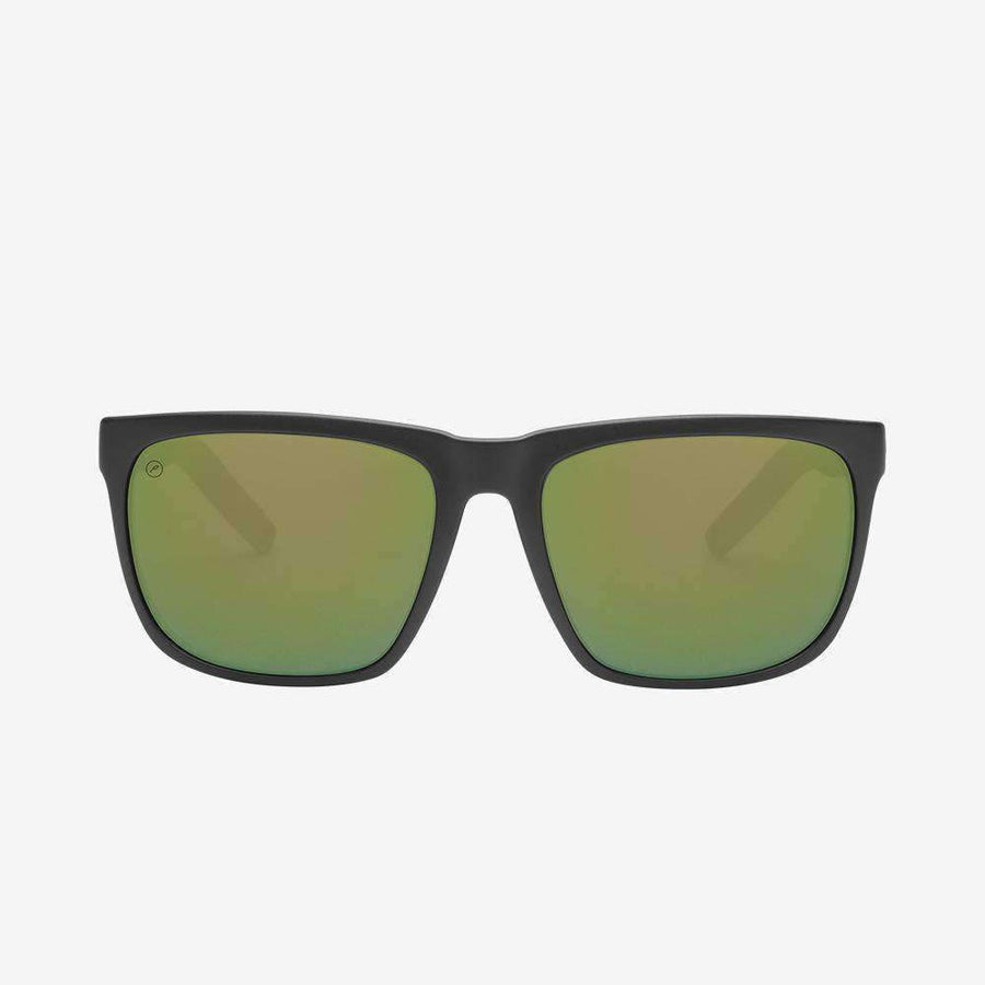 ELECTRIC Knoxville XL Sport Matte Black - Bronze Green Polarized Pro Sunglasses SUNGLASSES - Electric Sunglasses Electric