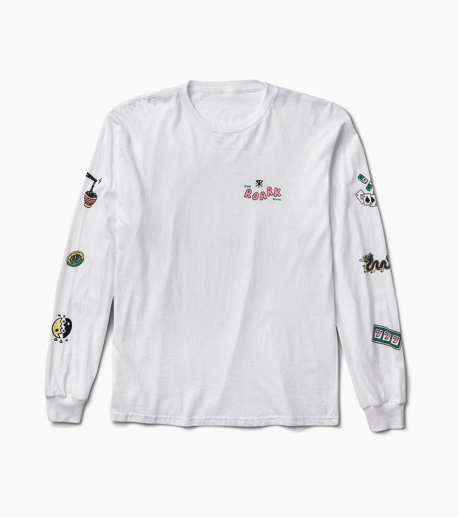 ROARK The Price Of Vice Staple L/S T-Shirt White