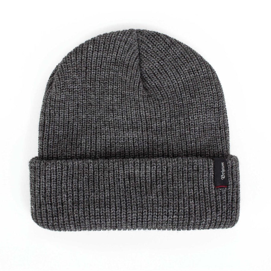 BRIXTON Heist Beanie Heather Grey MENS ACCESSORIES - Men's Beanies Brixton