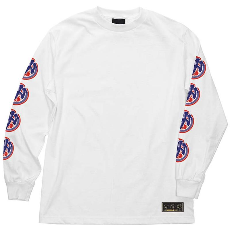 OJS Brush Logo L/S T-Shirt White