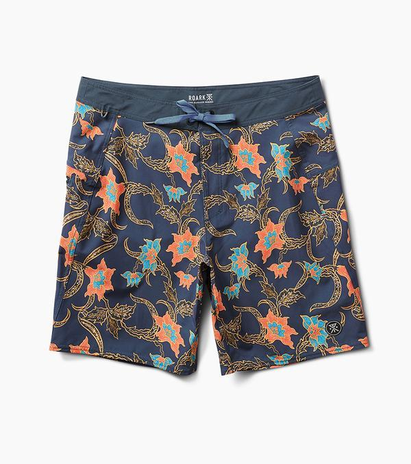 ROARK Passage Batavia Batik Boardshort Faded Navy MENS APPAREL - Men's Boardshorts Roark Revival