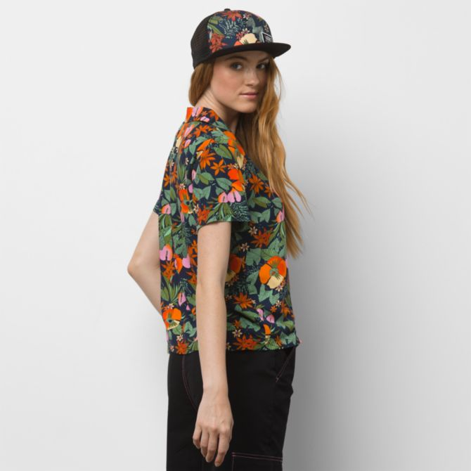VANS Ka Lanii Woven Top Women's Multi Tropic WOMENS APPAREL - Women's Blouses Vans