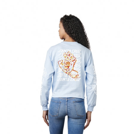 SANTA CRUZ Boyfriend Vortex Hand L/S Crop Powder Blue