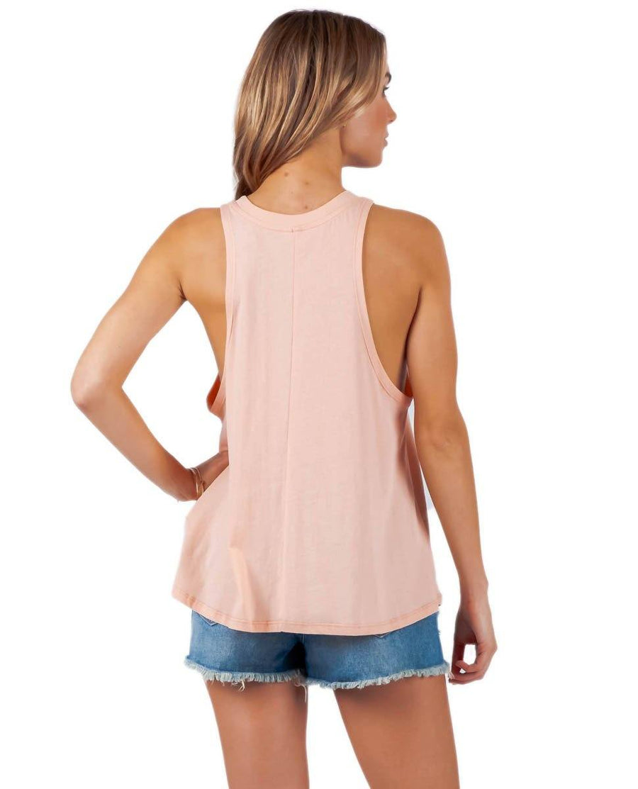 RIP CURL Gone To Maui Tank Peach WOMENS APPAREL - Women's Tank Tops and Halter Tops Rip Curl S