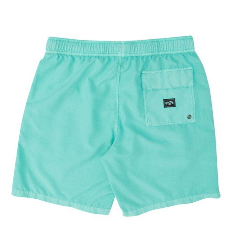 BILLABONG All Day Overdye Layback Boardshorts Boys Aqua