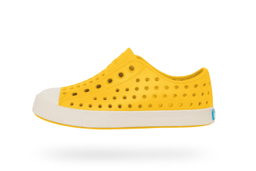 NATIVE Jefferson Child Crayon Yellow/Bone White Shoes