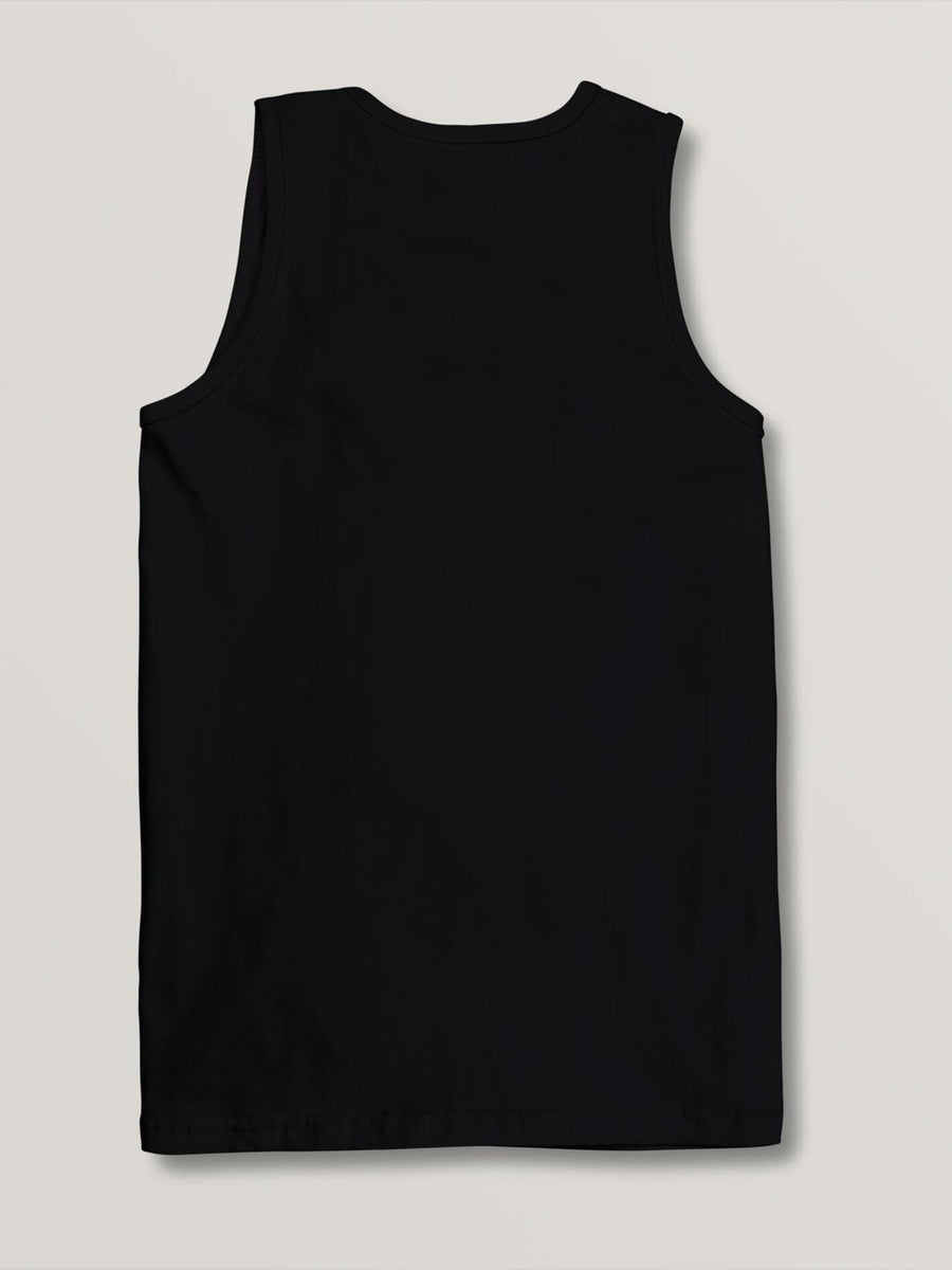 VOLCOM May Dye Tank Top Boys Black KIDS APPAREL - Boy's Tops Volcom L