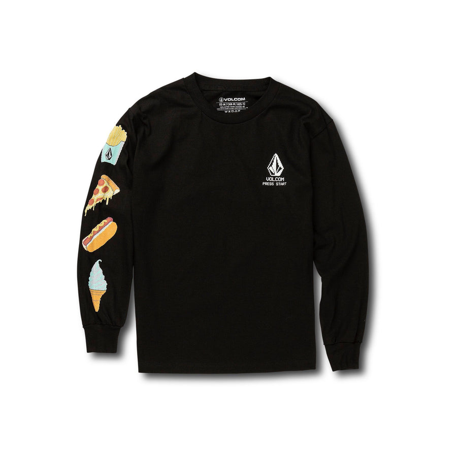 VOLCOM New High Score Boys L/S T-Shirt Black