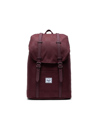 HERSCHEL Retreat Mid Backpack Plum Dot Check ACCESSORIES - Street Backpacks Herschel Supply Company