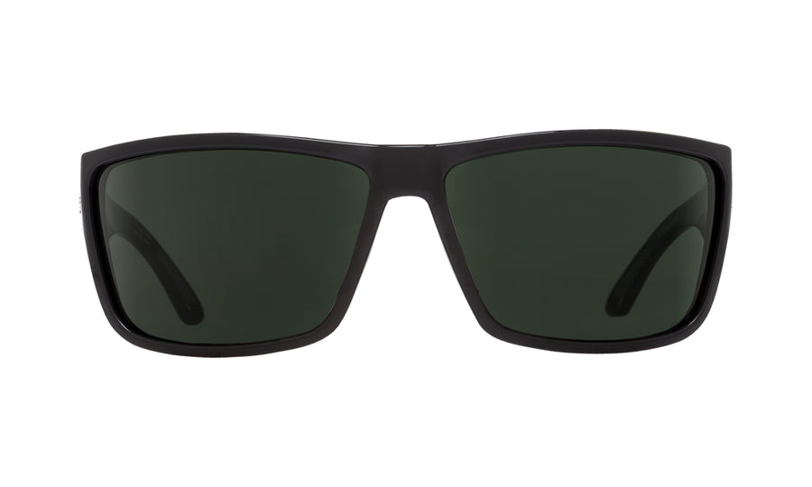 SPY Rocky Black - Happy Grey Green Sunglasses