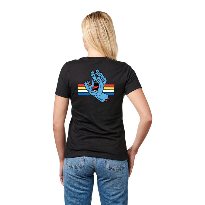 SANTA CRUZ Boyfriend Locked Hand S/S Shirt Black WOMENS APPAREL - Women's T-Shirts Santa Cruz