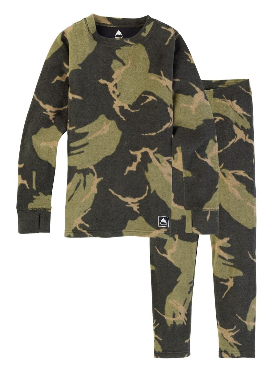 BURTON Fleece Base Layer Set Kids Mountain Camo