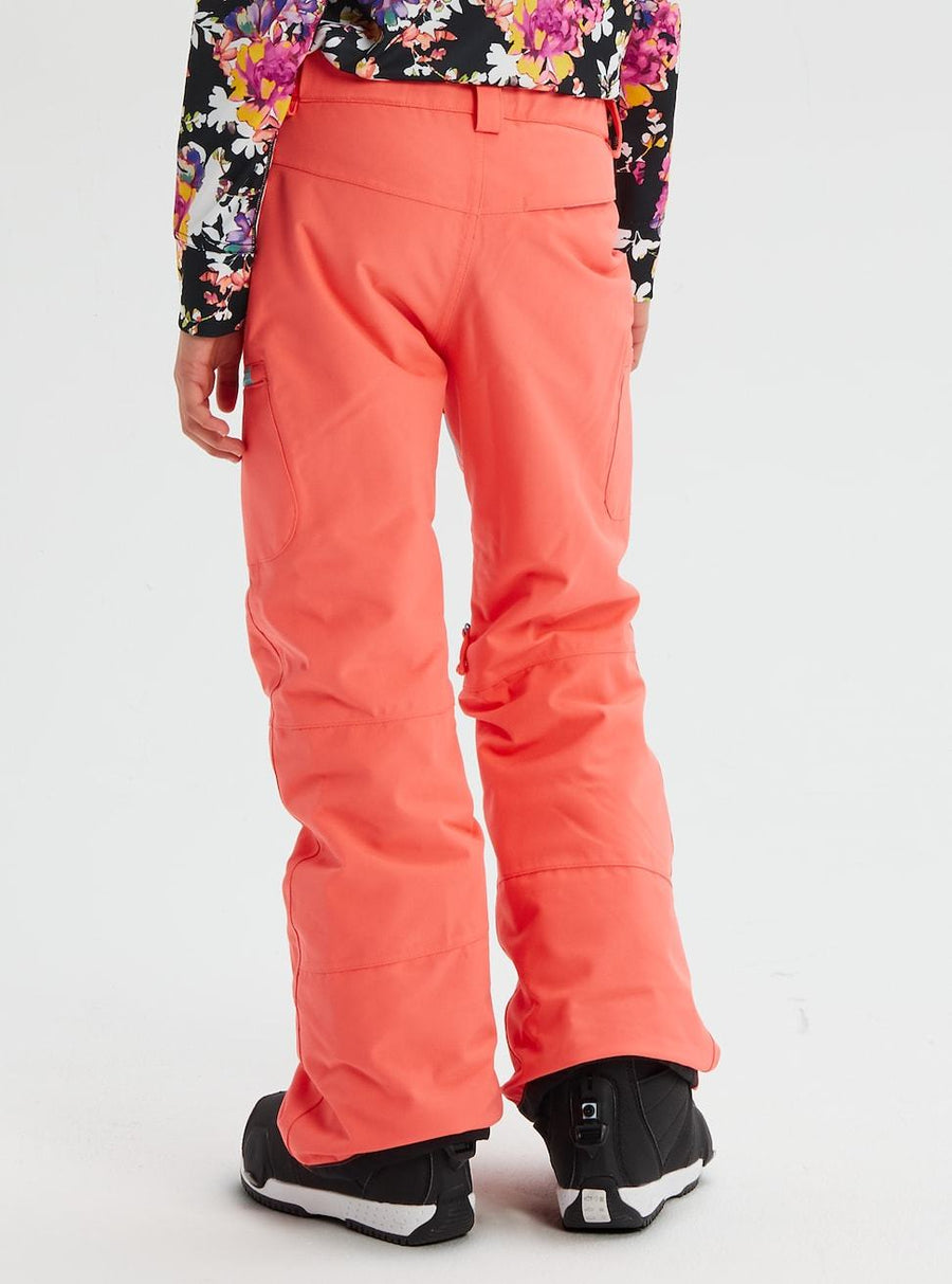 BURTON Elite Cargo Girls Snowboard Pants Georgia Peach 2020 YOUTH INFANT OUTERWEAR - Youth Snowboard Pants Burton