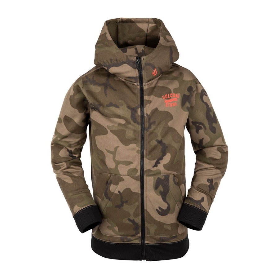 VOLCOM Krestova Zip Hoodie Boys GI Camo KIDS APPAREL - Boy's Zip Hoodies Volcom