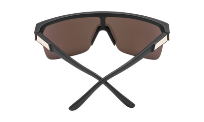 SPY Flynn 5050 Matte Black Gold - HD Plus Bronze With Gold Spectra Mirror Sunglasses