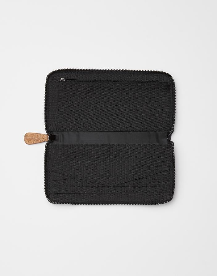 TENTREE Banker Zip Wallet Meteorite Black Juniper WOMENS ACCESSORIES - Women's Wallets Tentree