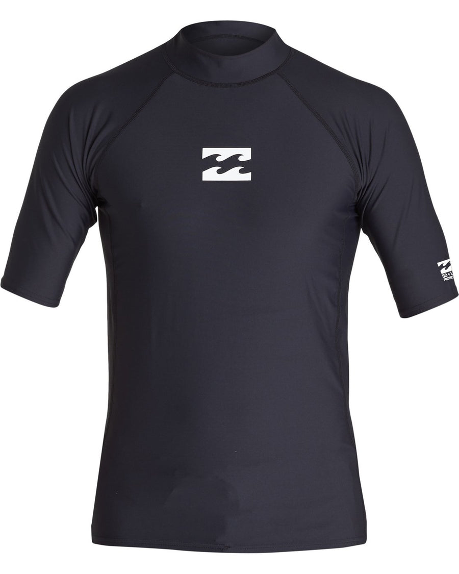 BILLABONG All Day Wave Performance Fit S/S Rashguard Black