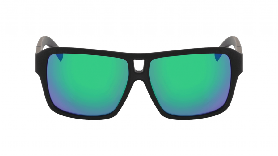 DRAGON The Jam Matte Black H2O - Lumalens Green Ion Polarized Sunglasses
