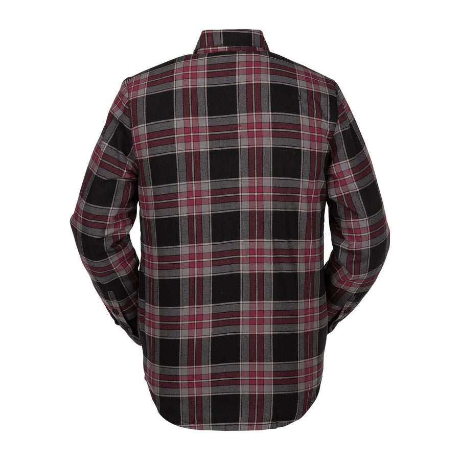 VOLCOM Sherpa Flannel Jacket Red MENS APPAREL - Men's Street Jackets Volcom L