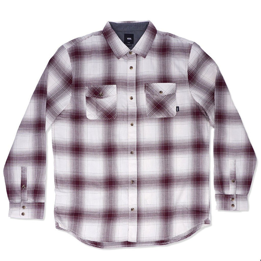 VANS Monterey III Button Up Shirt Antique White/Port Royale MENS APPAREL - Men's Long Sleeve Button Up Shirts Vans M