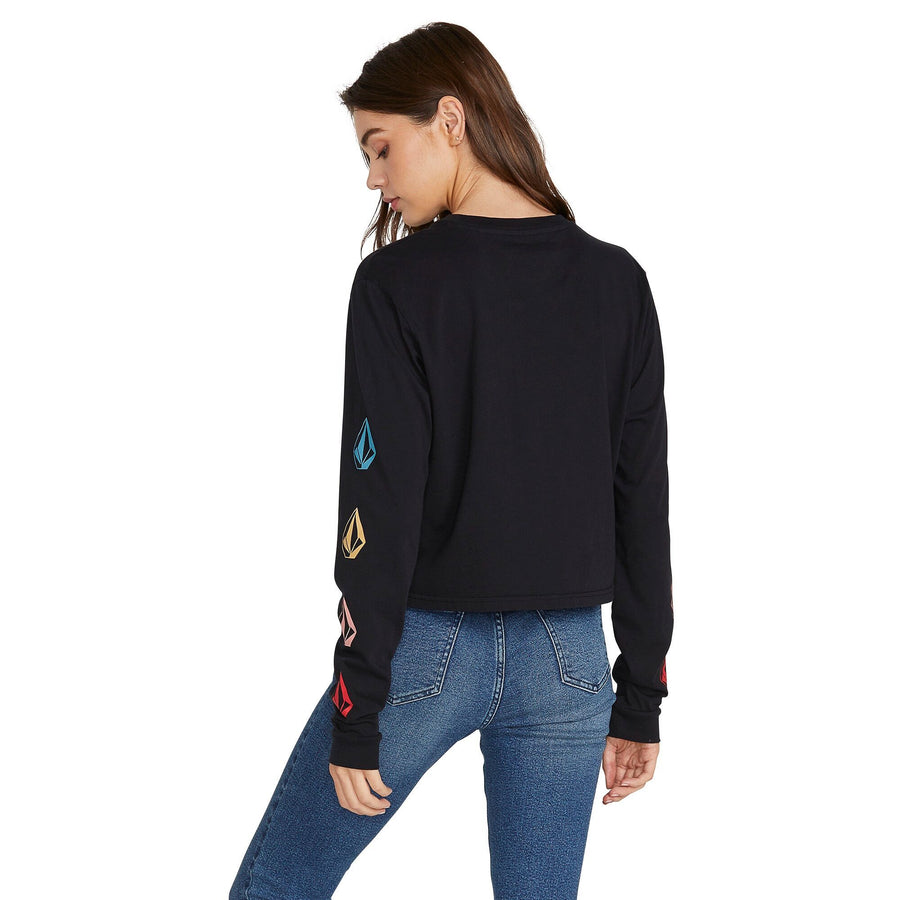 VOLCOM The Volcom Stones L/S T-Shirt Women's Black WOMENS APPAREL - Women's Long Sleeve T-Shirts Volcom