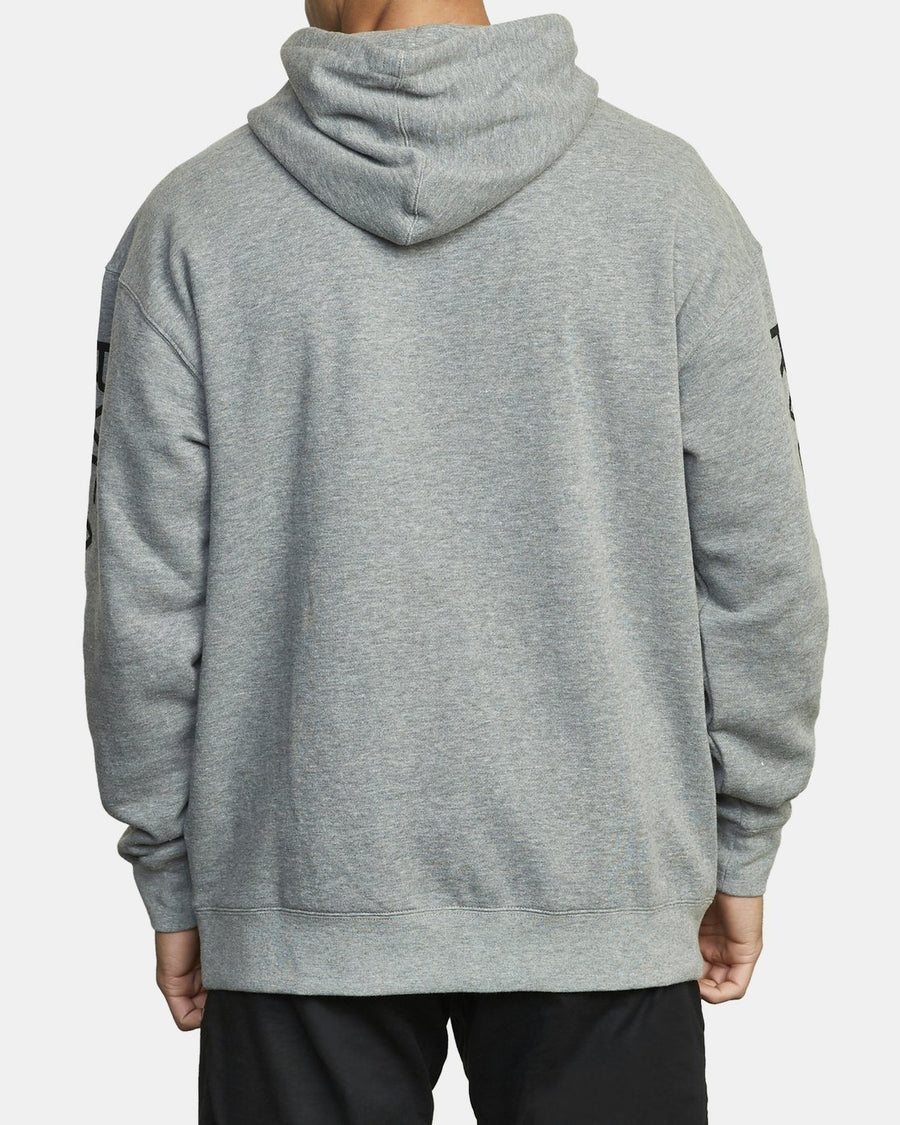 RVCA Sport Pullover Hoodie Heather Grey MENS APPAREL - Men's Pullover Hoodies RVCA L