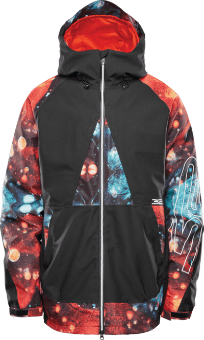 THIRTYTWO TM-3 Snowboard Jacket Black/Print 2021 MENS OUTERWEAR - Men's Snowboard Jackets Thirtytwo