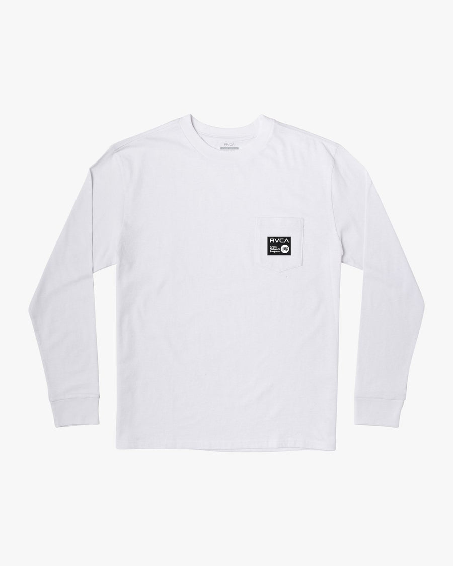 RVCA Shintaro Cats L/S T-Shirt White