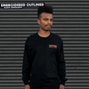 THRASHER Embroidered Outlined L/S T-Shirt Black