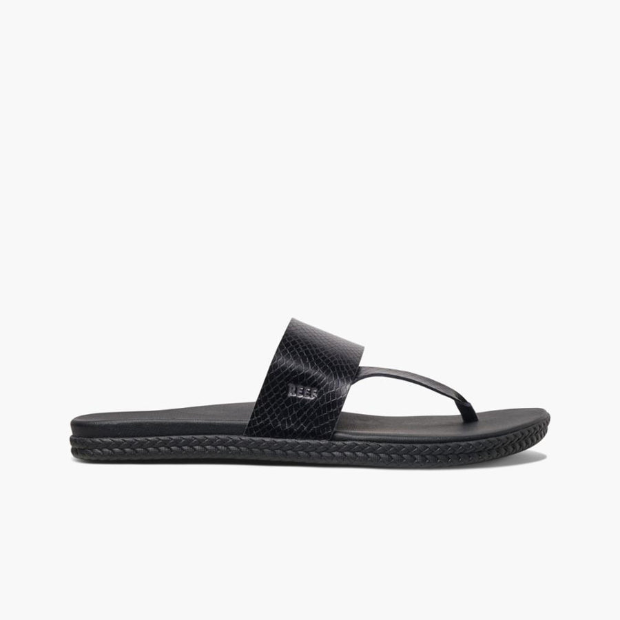 REEF Cushion Bounce Sol Sandals Women's Black/Snake