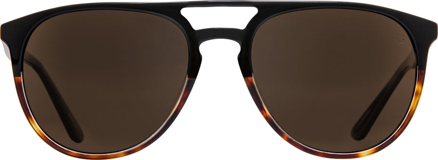 SPY Syndicate Black/ Tort - Happy Bronze Polarized Sunglasses