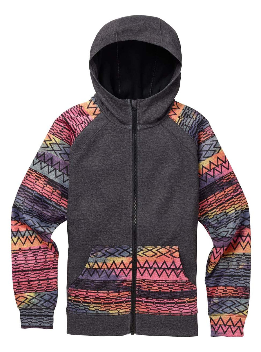 BURTON Scoop Full-Zip Hoodie Girls True Black Heather/ Technicat Dream