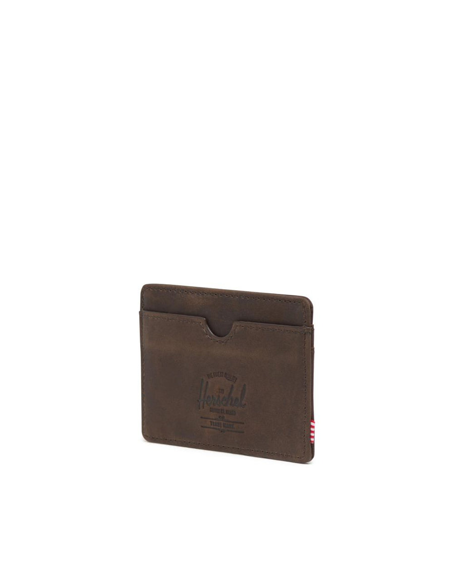 HERSCHEL Charlie Wallet Nubuck Brown MENS ACCESSORIES - Men's Wallets Herschel Supply Company
