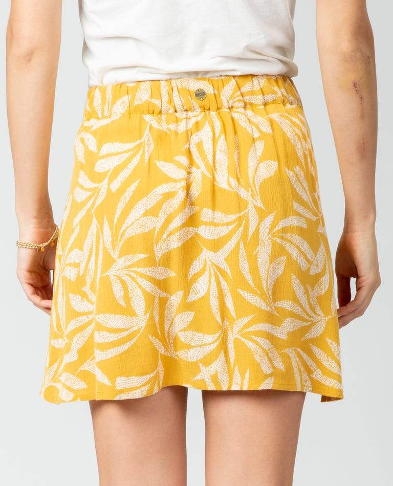 RIP CURL Ooh La Leaf Skirt Women's Mustard WOMENS APPAREL - Women's Skirts Rip Curl L