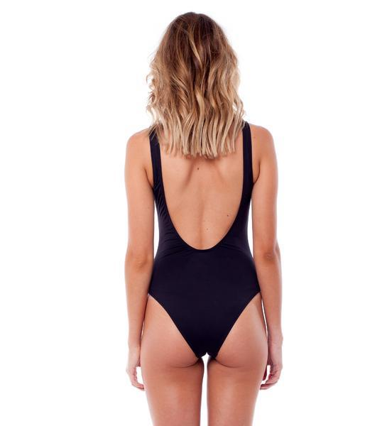 RHYTHM Gidget One Piece Swimsuit Black