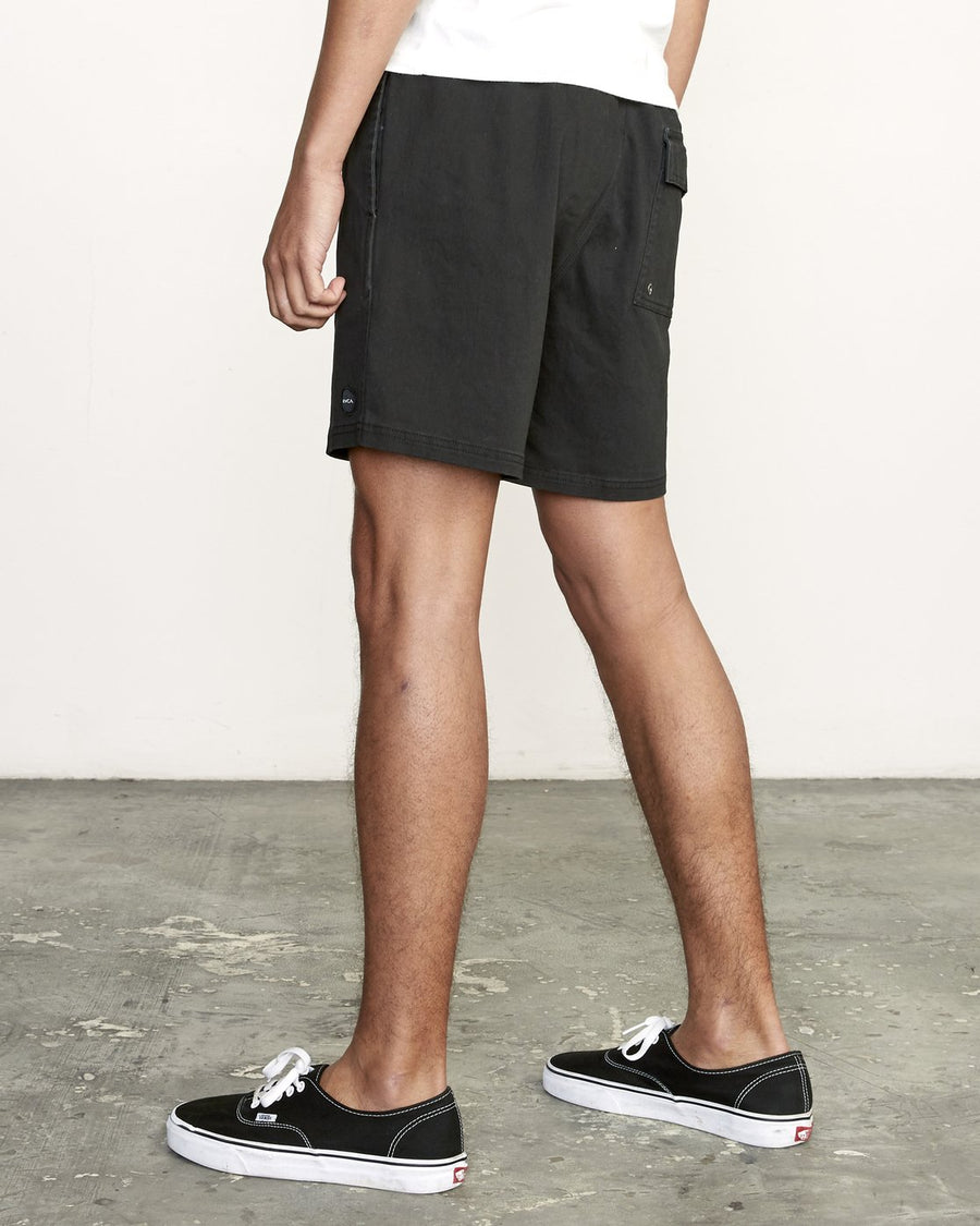 RVCA Escape Elastic Waist Walkshorts Black MENS APPAREL - Men's Walkshorts RVCA