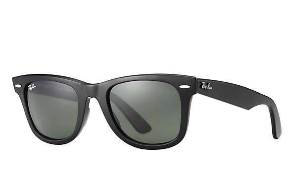 RAY-BAN Original Wayfarer Classic Black - Green Classic G-15 Sunglasses SUNGLASSES - Ray-Ban Sunglasses Ray-Ban