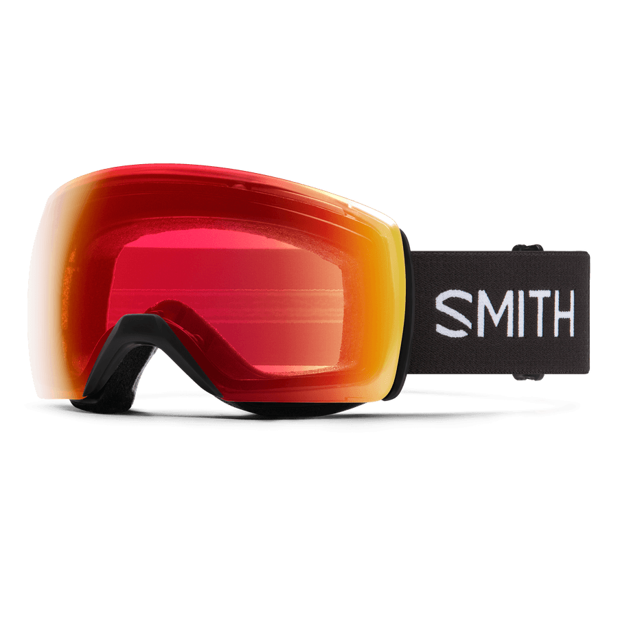 SMITH Skyline XL Black - ChromaPop Photochromic Red Mirror Snow Goggle GOGGLES - Smith Goggles Smith