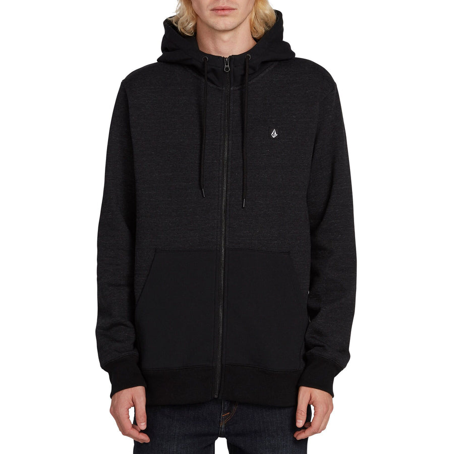 VOLCOM Single Stone Zip Up Hoodie Sulfur Black