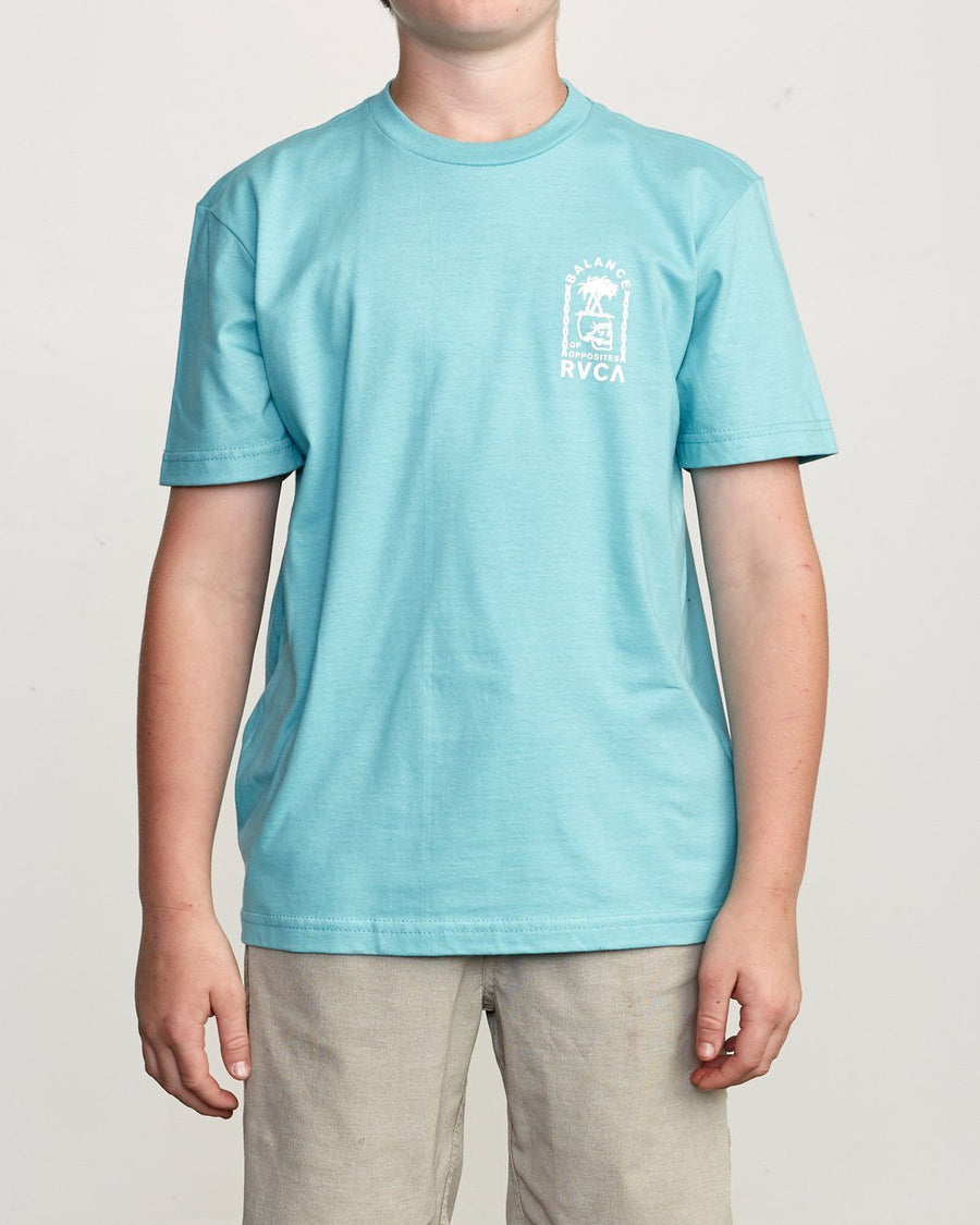RVCA Bad Palms Youth T-Shirt Nile Blue