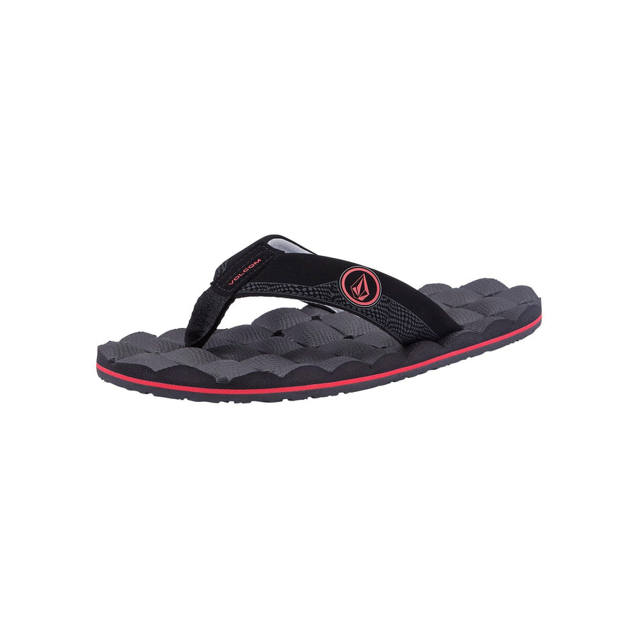 VOLCOM Recliner Sandals Big Boys Graphite