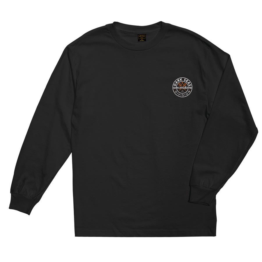 DARK SEAS Goddest Long Sleeve T-Shirt Black MENS APPAREL - Men's Long Sleeve T-Shirts Dark Seas