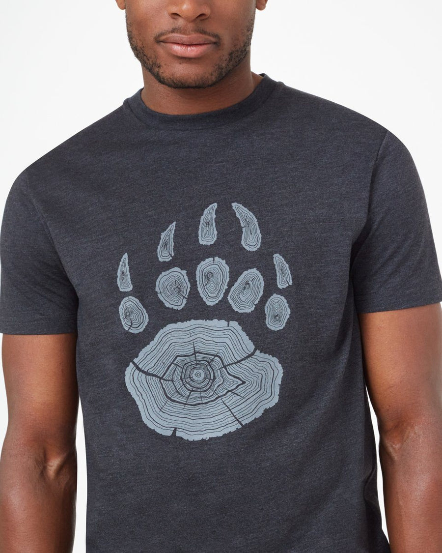TENTREE Bear Claw T-Shirt Meteorite Black Heather MENS APPAREL - Men's Short Sleeve T-Shirts Tentree