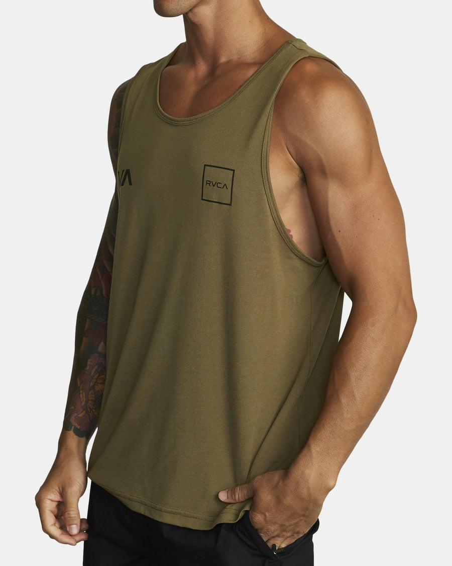 RVCA Lane Tank Top Combat MENS APPAREL - Men's Jerseys and Tank Tops RVCA