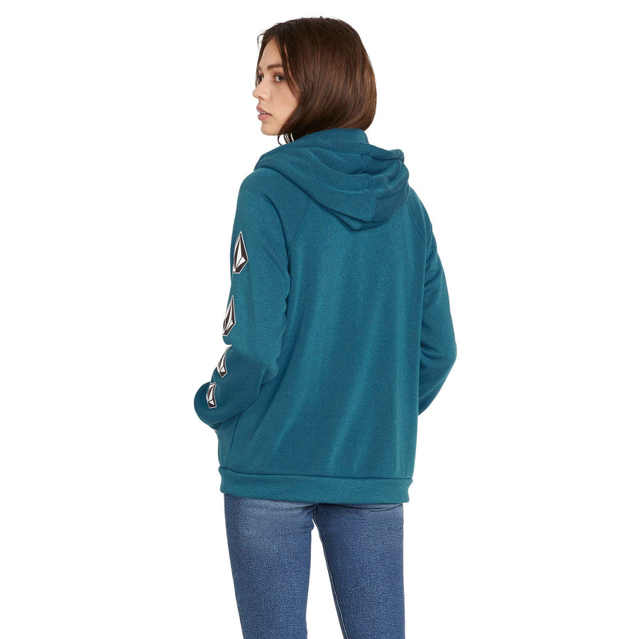 VOLCOM Deadly Stones Pullover Hoodie Women's Stormy Blue