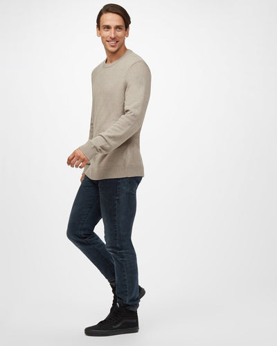 TENTREE Highline Cotton Crew Sweater Desert Taupe Heather MENS APPAREL - Men's Sweaters and Sweatshirts Tentree